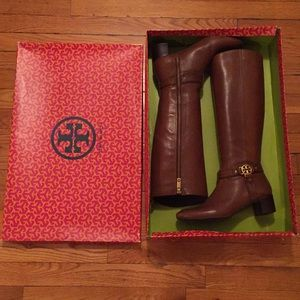 Tory Burch Shoes - Tory Burch brown leather boots!